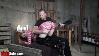 Daisy feels pleasurable side of bondage