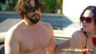Swingers experience a funny and hot welcome game