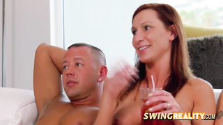 Swinger hot babes kissing each other's tits