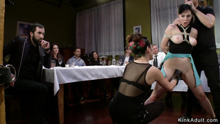 Tied and fucked and public soup course