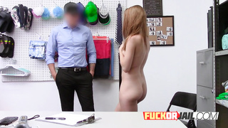 Horny security guard uses a spy cam