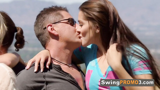Swingers enjoy the welcome of new couple