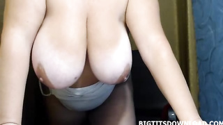 Fat girl with giant tits and huge nipples