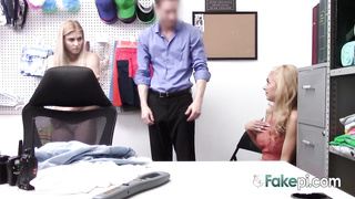 Hot shoplifter blondes get slammed