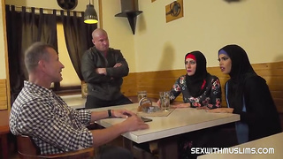 Muslim babe gets sex with 2 guys