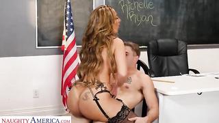 Richelle Ryan American teacher fuck young boy at the school room