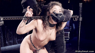 Hot Abella Danger tormented in device