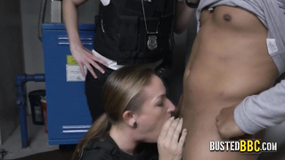 Bouncy white ass is being fucked by BBC