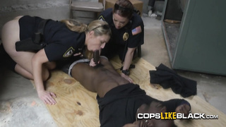 Busty cops with fat ass love BBC