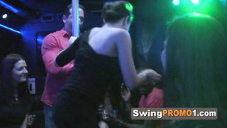 Swinger party with interracial couples