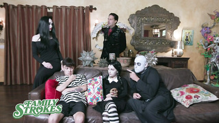 FamilyStrokes - Halloween Costume Party Ends with Creepy Family Orgy