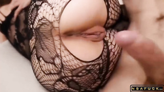 PAWG sexy slut in fishnet outfit fuck p1