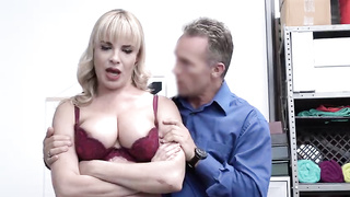 Dana Dearmond MILF thief gets fucked by security