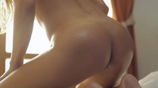 Horny blonde MILF played with herself