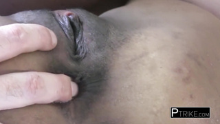 Asian slut gets her pussy hard fingered.