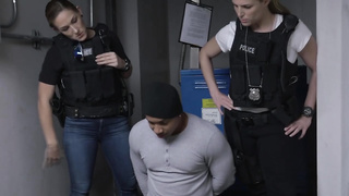 Horny cops with round ass love banging