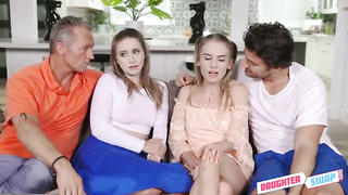 Daughter Swap - Daughter Pussy Swapping Party (2019) Laney Grey, Natalie Knight