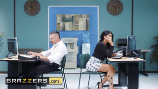 Brazzers - Big Tits Office Slut Romi Rain Works Hard, Fucks Harder - Charles Dera, Romi Rain