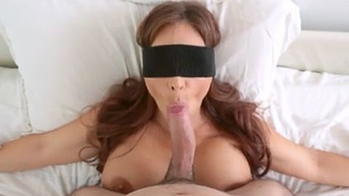A blindfold and a busty stepmother can make my day