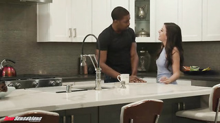 Interracial family sex by stepdaughter and black stepdad