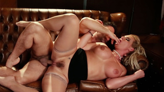 Dirty MILF with big tits rode a guys big hard dick