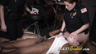 hard black cock fucked by these MILFs