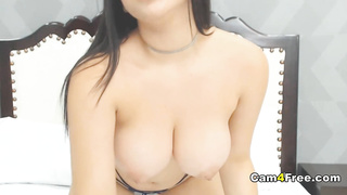 Busty Chick Toys Her Sweet Pussy