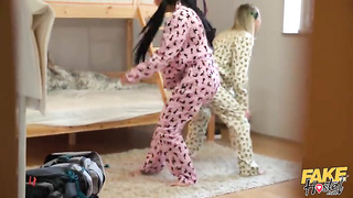 Pajama Party (2019) Steve Q, Jennifer Mendez, Madison McQueen - Fake Hub, Fake Hostel