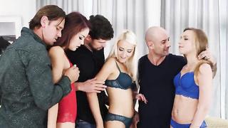 Sixsome orgy FFFMMM with pornstars new Dec, 7 2019 hot sex video