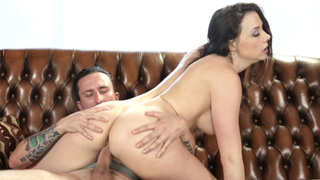 Dirty MILF with big ass jumped on a guys hard dick