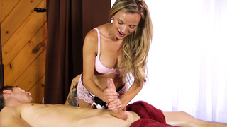 Hot blonde professional took a huge cock