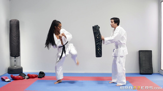 Brazzers - Fighting Foot Domination (2019) Kira Noir & Ricky Spanish - Trailer HD 1080p