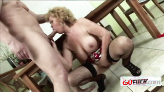 Naughty Grandmother with huge tits