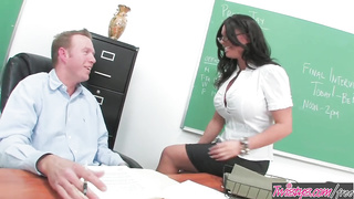 Twistys - Big tit teacher deep throats a cock -  Kerry Louise - HD 720p