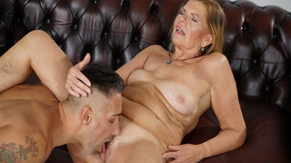 Sexy granny Samantha is happy to take a young cock