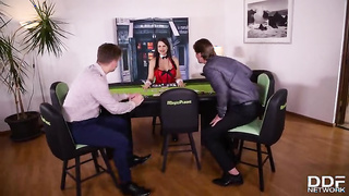 Poker double penetration sex game