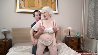Granny loves to fuck hard with big cock