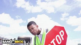 BANGBROS - The Crossing Guard Gets Big Ass On His Face - Lil D, Rose Monroe - HD 720p