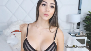 Beautiful Busty Babe Plays with Her Dildo