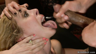 Two blondes are fucked for public