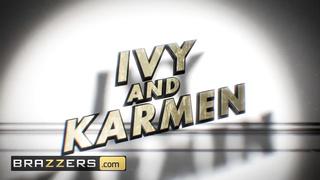 Brazzers - Big tit inked pornstars share cock in threesome - Keiran Lee, Karmen Karma, Ivy Lebelle