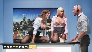 Brazzers - Milf news anchors fuck the paige - Johnny Sins, Alexis Fawx, Luna Star - HD 720p