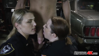 Stunning female cops are ready to fuck