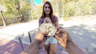Picking up ginger cutie for a paid quickie