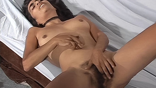 Hairy amateur from Uruguay uses a toy on her pussy