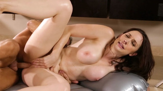 Big tits MILF rode clients hard cock