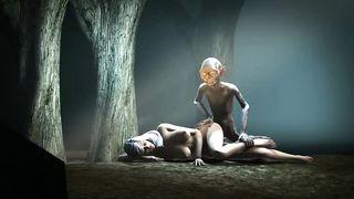 Gollum drills unconscious girl