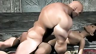 Muscled guard fuck female prisoner