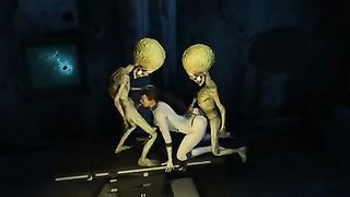 Martian aliens gangbang woman