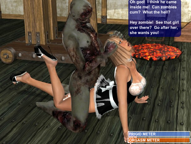 Порно игра про зомби